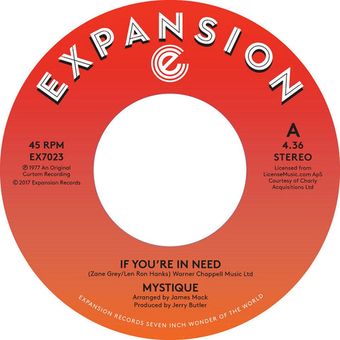 Mystique - If You're In Need / Spoiled 7-Inch