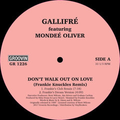 Gallifre - Don't Walk Out On Love EP