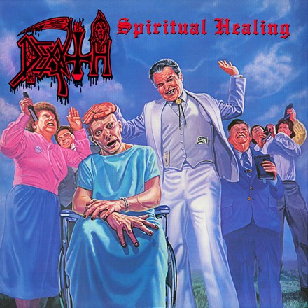 Death - Spiritual Healing LP (Clear Vinyl With Pinwheels)
