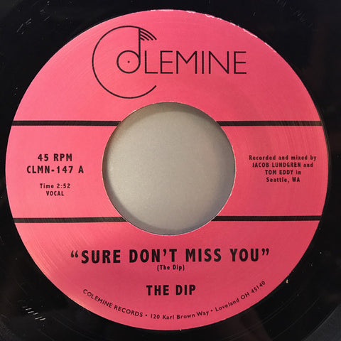 The Dip - Sure Don't Miss You 7-Inch