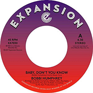 Bobbi Humphrey - Baby Don't You Know 7-Inch