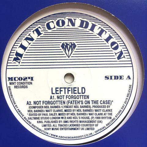 Leftfield - Not Forgotten EP