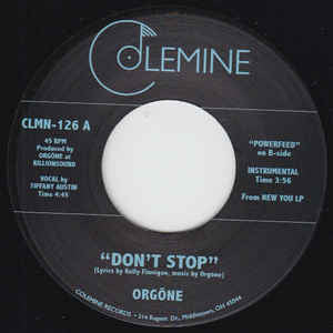 Orgone - Don't Stop 7-Inch