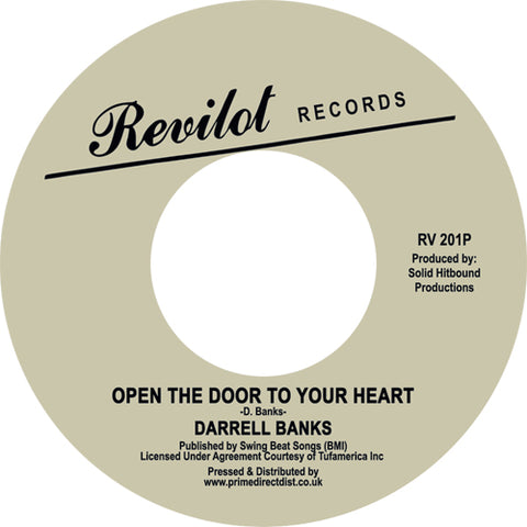 Darrell Banks - Open The Door To Your Heart 7-Inch