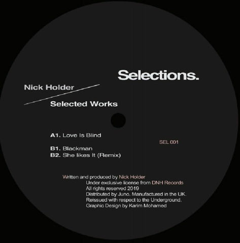 Nick Holder - Selections EP