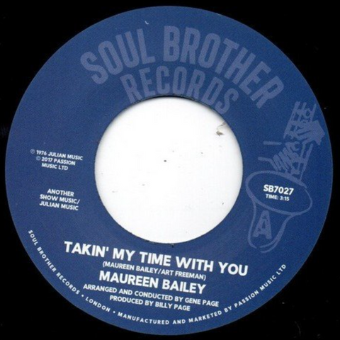 Maureen Bailey - Takin' My Time With You 7-Inch