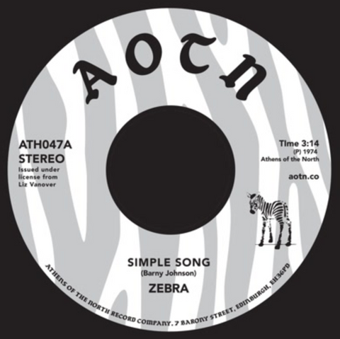 Zebra - Simple Song 7-Inch