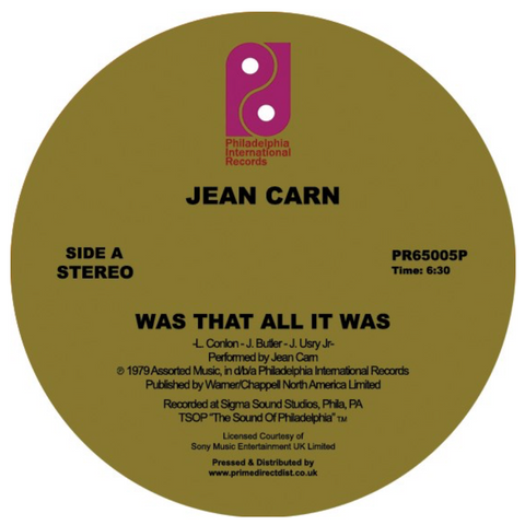 Jean Carn - Was That All It Was 12-Inch