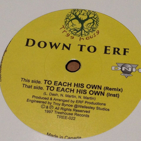 Down To Erf - To Each His Own 7-Inch