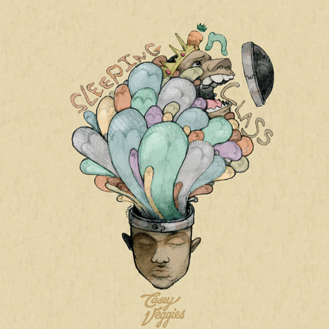 Casey Veggies - Sleeping In Class 2LP (Green and Oragne Vinyl)
