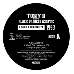 Tony D Presents Black Prince & Aziatic - Roger Gardens EP