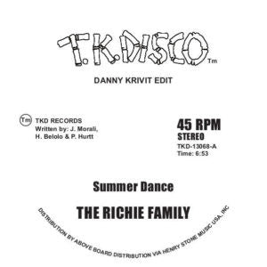 RIchie Family - Summer Dance (Danny Krivit Edit) 12-Inch