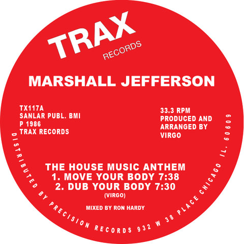 Marshall Jefferson - Move Your Body EP