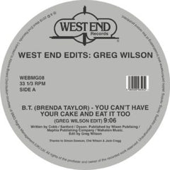 Greg Wilson - West End Edits 2LP