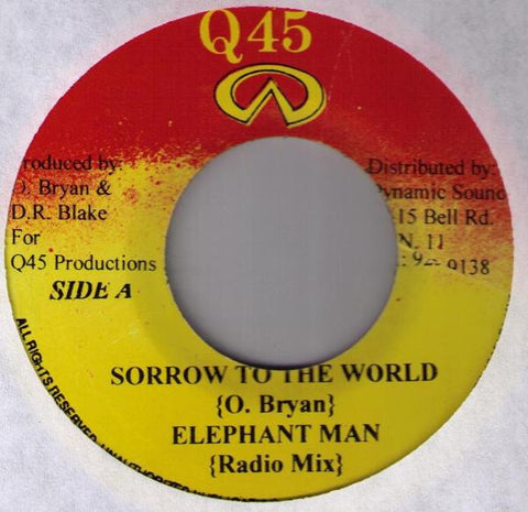 Elephant Man - Sorrow To The World 7-Inch