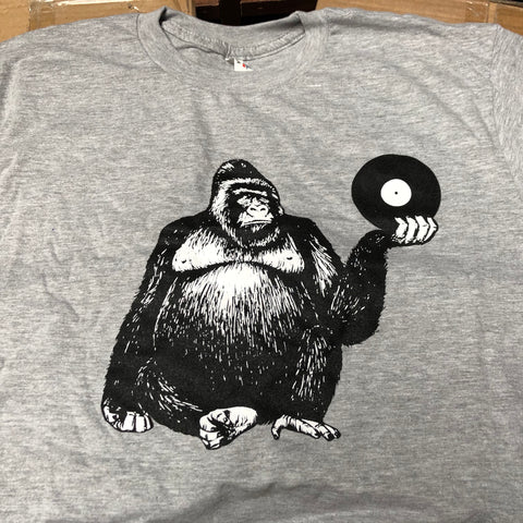 Beat Street Records T-Shirt (Grey With Black and White Gorilla)