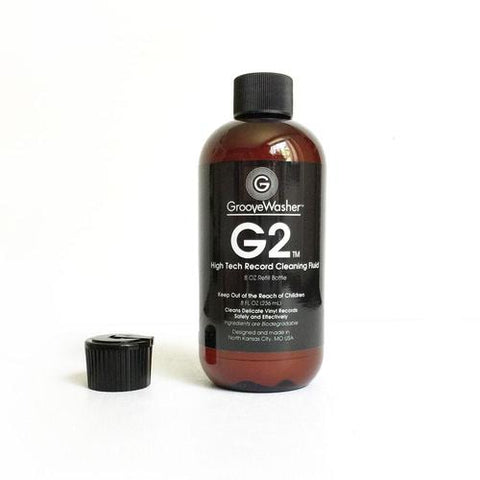 GrooveWasher G2 High Tech Record Cleaning Fluid 8 Oz Refill Bottle