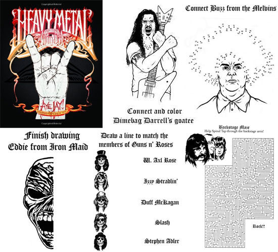 Heavy Metal Coloring Book   Beat Street Records