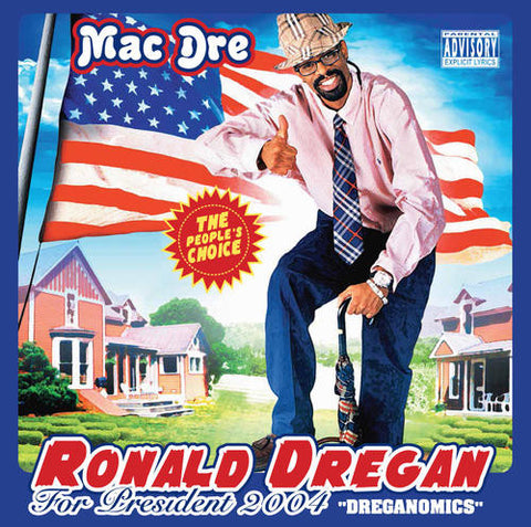 Mac Dre - Ronald Dreagan: Dreganomics 2LP (Red, White & Blue Vinyl)
