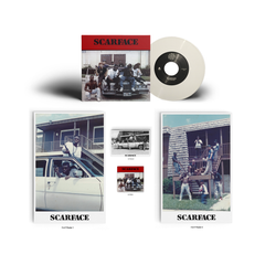 Scarface - Scarface - 7-Inch (White Vinyl) + Sticker, Posters, Postcard