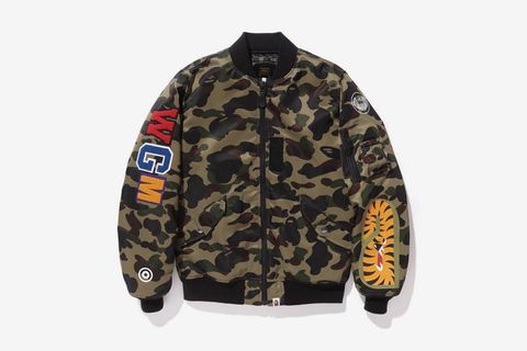 A Bathing Ape 1st Camo Shark MA-1 Bomber