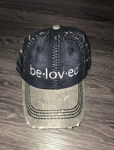 Beloved 2 Tone Dad Hat (Black Denim)