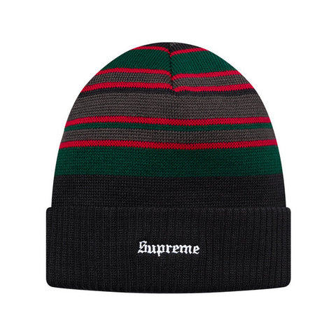 Supreme Multi-Stripe Beanie (Black)