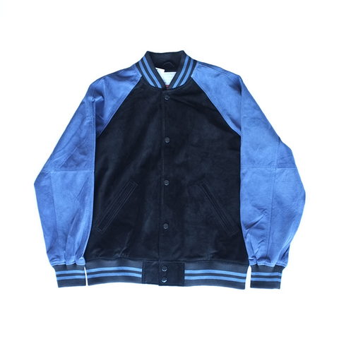 Supreme Suede Varsity Jacket - Royal Blue