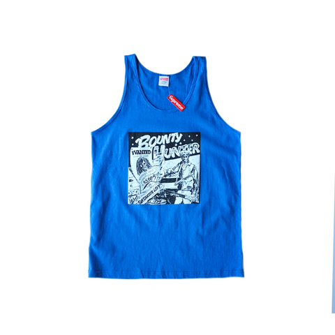 Supreme x Barrington Levy Bounty Hunter Tank - Blue