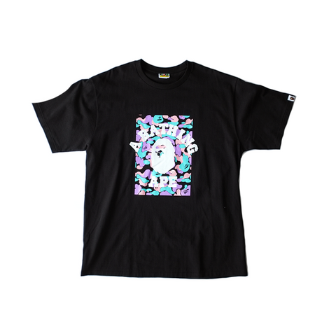 BAPE Tee - Black / Purple