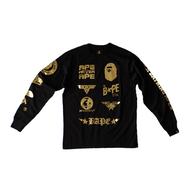 BAPE - Black and Gold Long Sleeve
