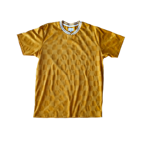 Supreme Checkered Soccer Jersey - Gold