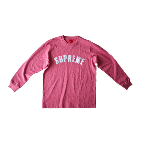 Supreme Arc Logo L/S Tee - Heather Pink