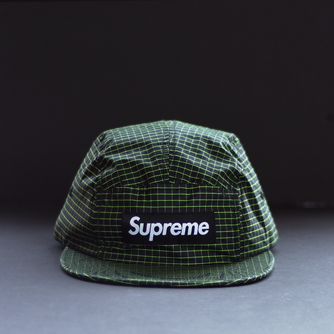 Supreme 2 Tone Rip Stop Camp Cap - Black