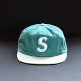 Supreme 2 Tone Washed S Logo Cap - Light Teal
