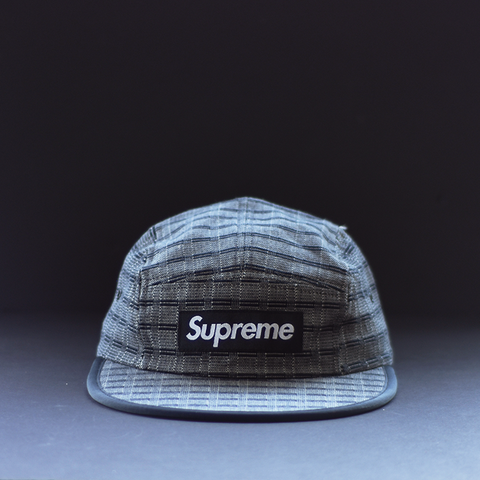 Supreme Nepal Woven Fitted Camp Cap - Black