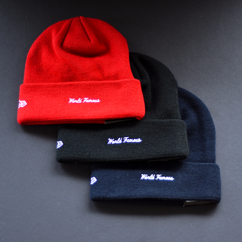 Supreme New Era Logo Beanie - Red