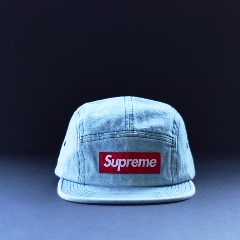 Supreme Washed Chino Twill Camp Cap - Denim