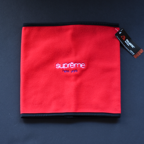 Supreme Polartec Fleece Neck Gaiter - Red