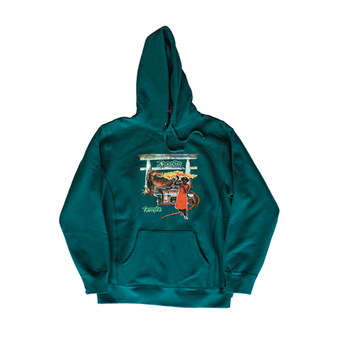 Supreme Barrington Levy & Jah Life Shaolin Temple Hoodie - Teal