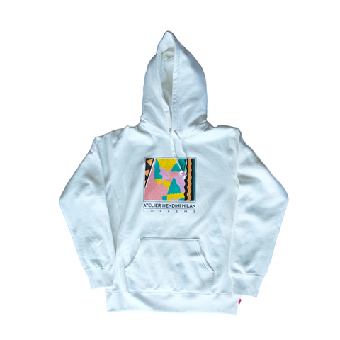 Supreme Mendini Hooded Sweatshirt - White