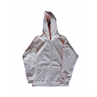 Supreme Split Hood Zip Up Sweat Hoodie - Peach