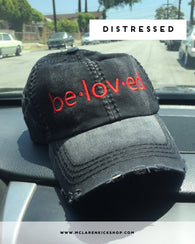 Beloved Distressed Dad Hat (Black)