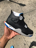 Air Jordan 4 Motorsport (Black Royal) GS