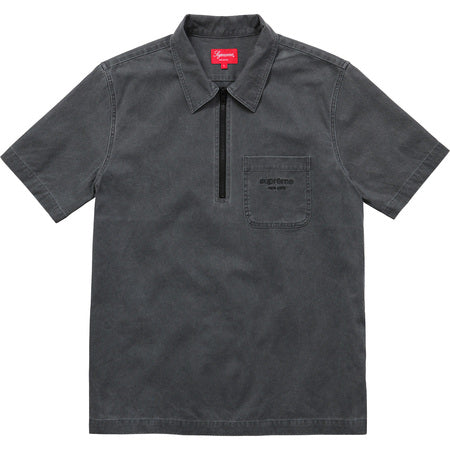 Supreme Twill Half Zip Shirt