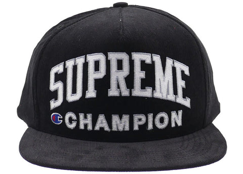 Supreme x Champion 5 Panel (Black)