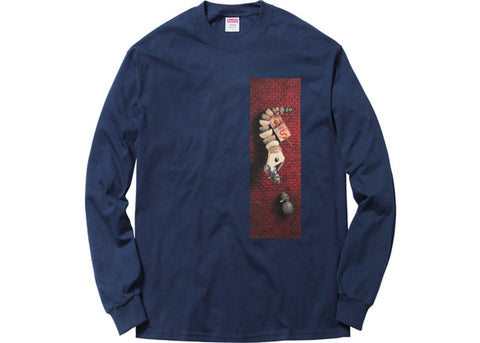 Supreme Mike Hill Snake Trap L/S T-Shirt (Navy)