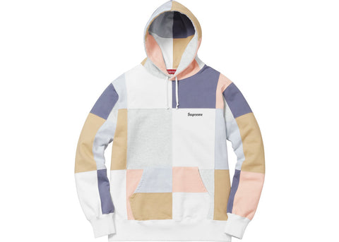 Supreme Patchwork Hoodie (White)