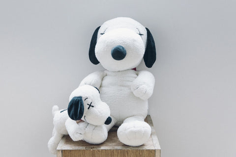 KAWS x Peanuts 2 Piece Plush Set