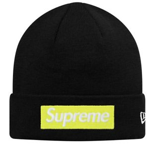 Supreme x New Era Box Logo Beanie (Black)